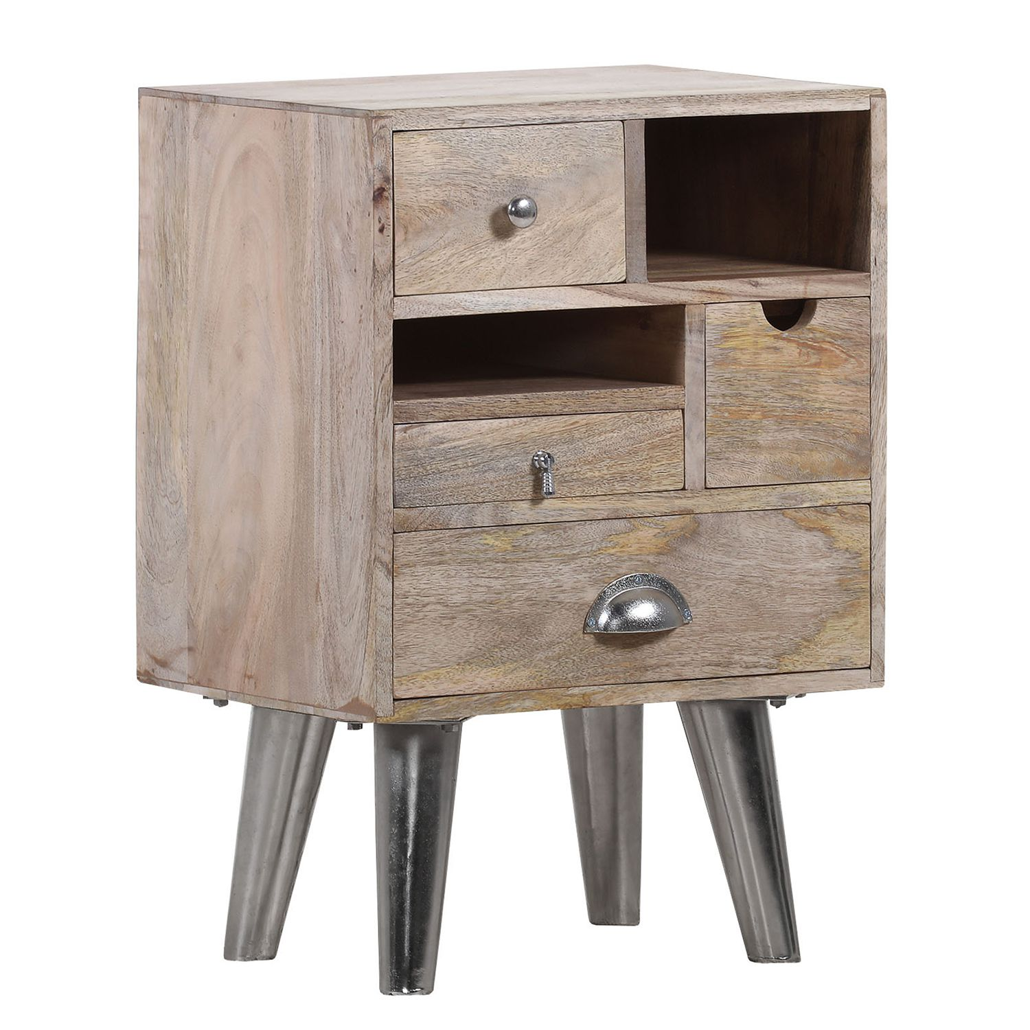 Commode Bambari V - Manguier massif / Fer, ars manufacti