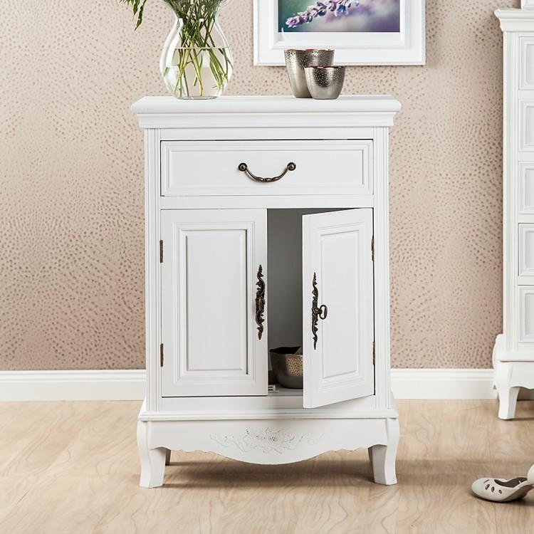 kommode belleville mit 1 schublade und 2 t ren wei. Black Bedroom Furniture Sets. Home Design Ideas