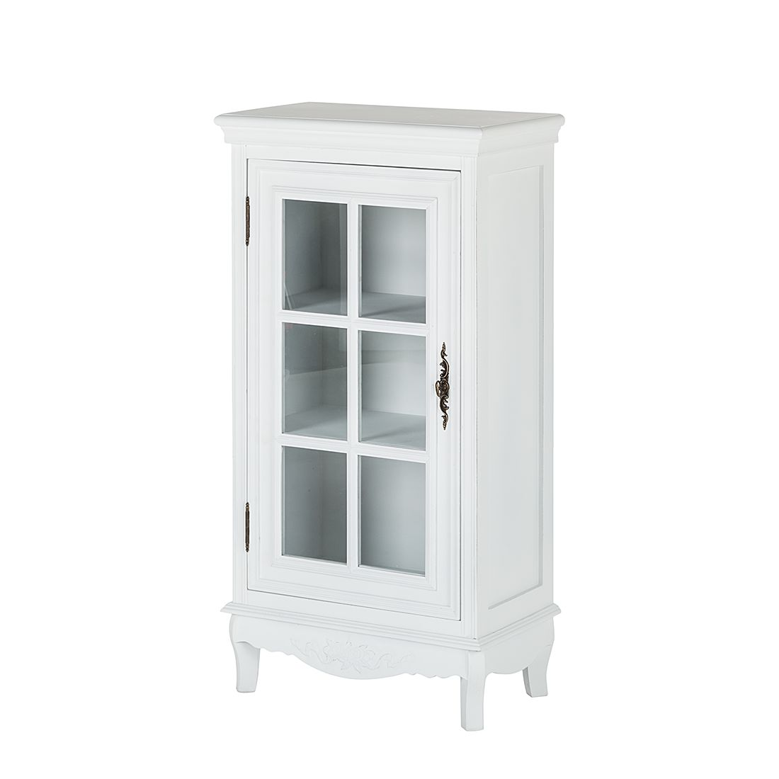 Commode Belleville - Blanc - Avec porte vitrée, Maison Belfort