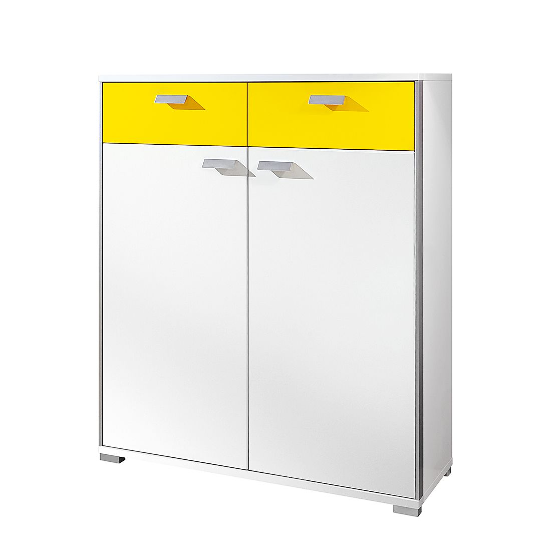 Commode Bolton II - Blanc / Jaune soleil, Voss