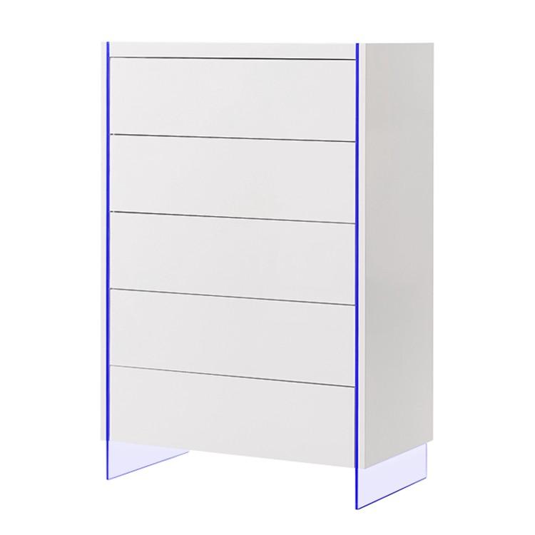 EEK A+, Commode Brunetti (éclairage inclus) - Blanc brillant, loftscape