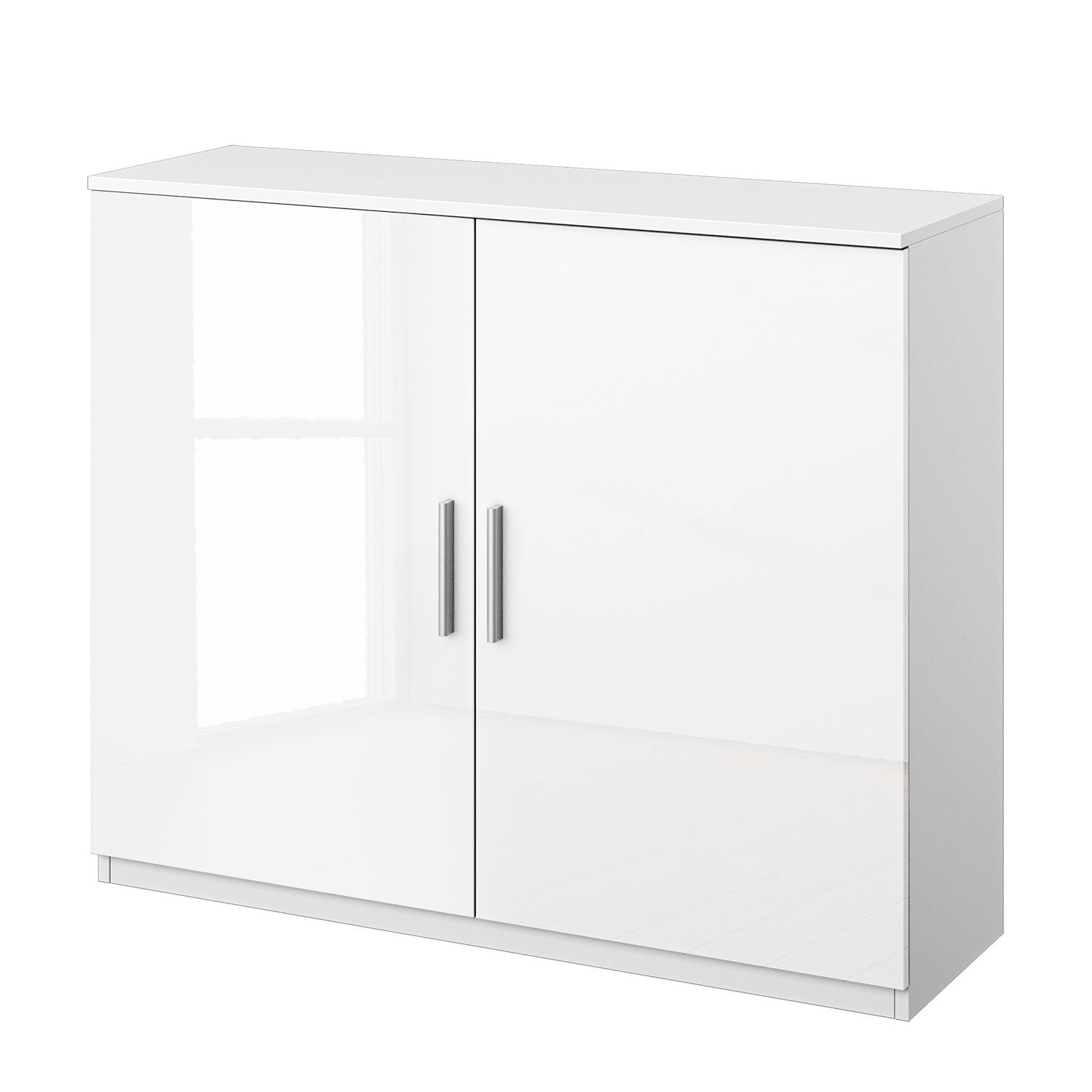 Commode Celle I - Blanc alpin / Blanc brillant, Rauch Packs