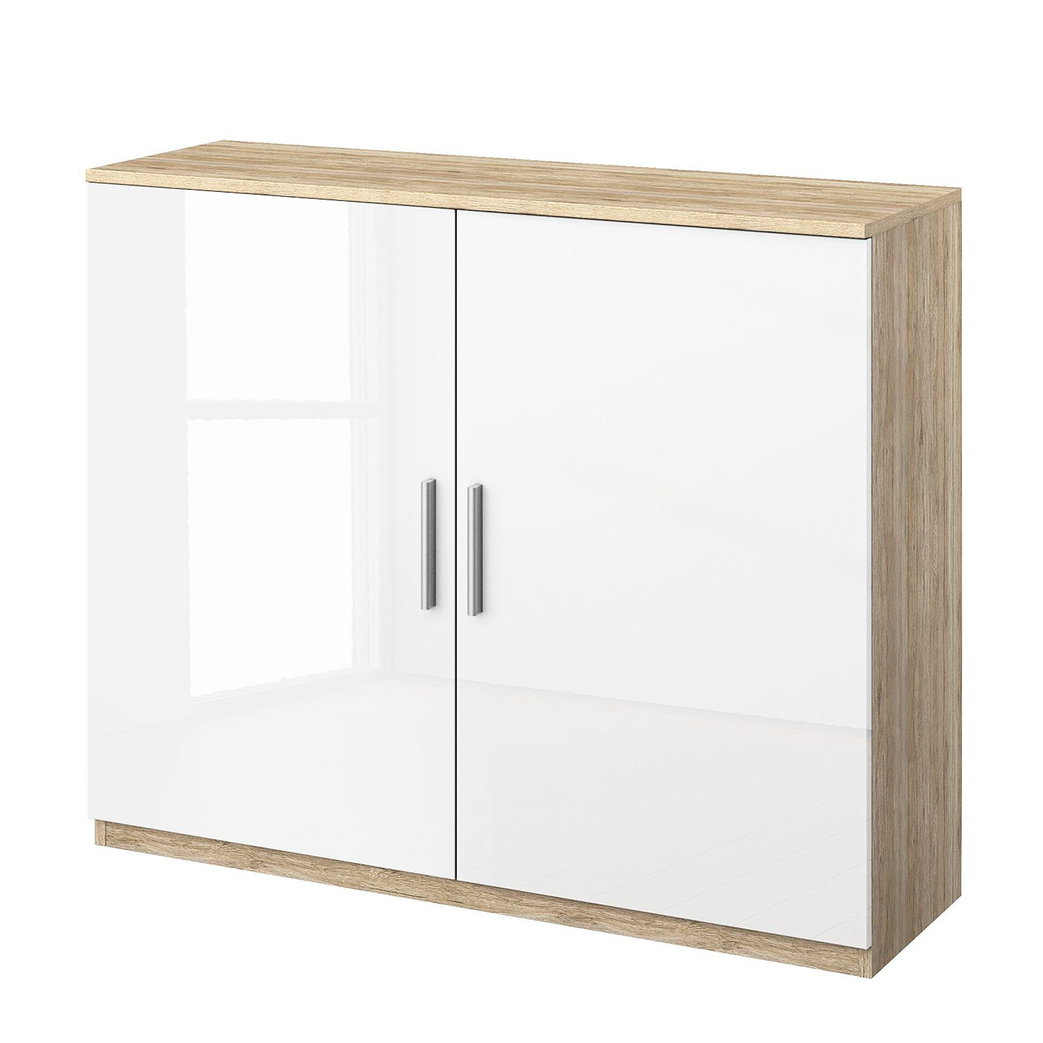 Commode Celle I - Imitation chêne de Sonoma / Blanc brillant, Rauch Packs