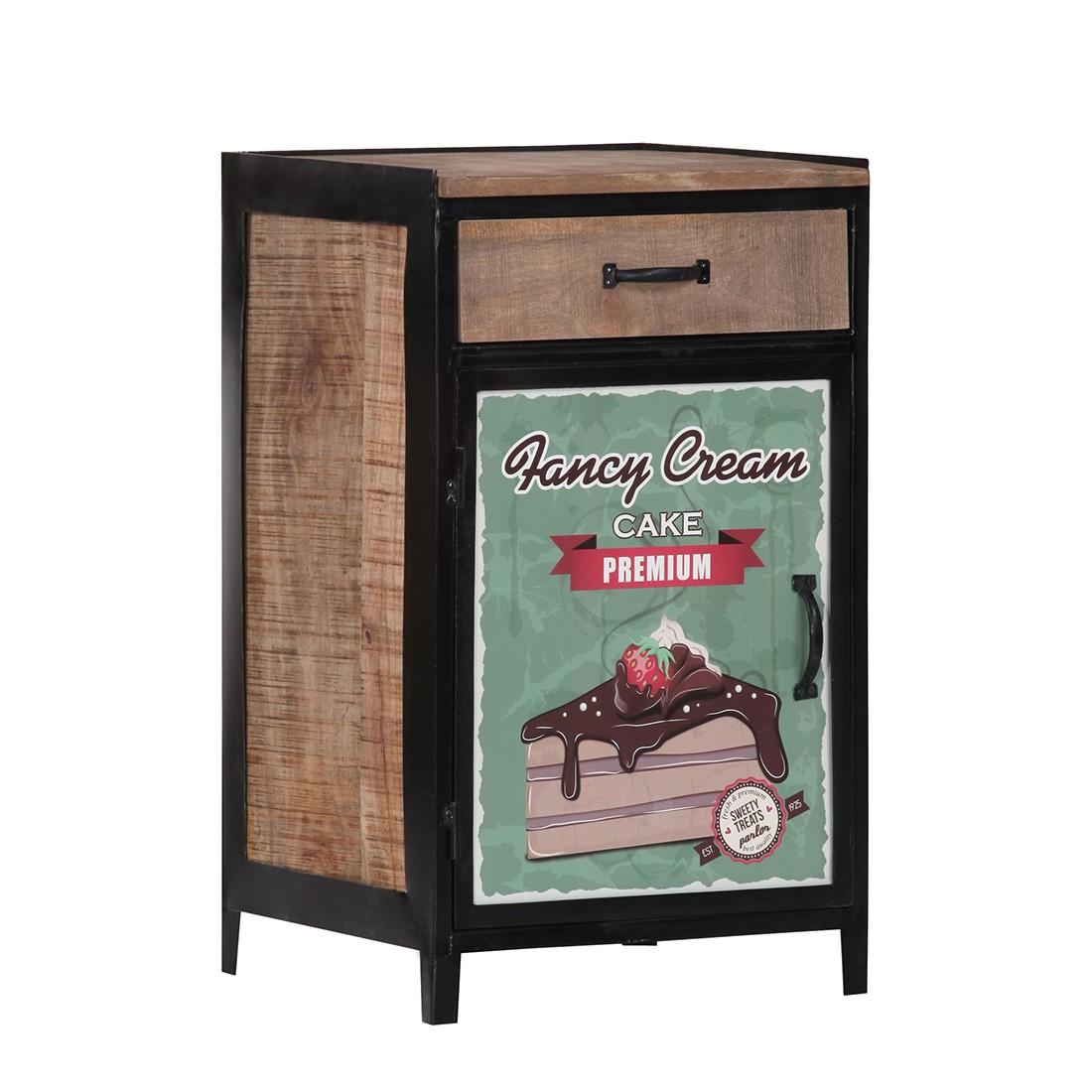 Mobiletto Cupcake Factory II - Legno massello di mango/Laccato e cerato, ars manufacti