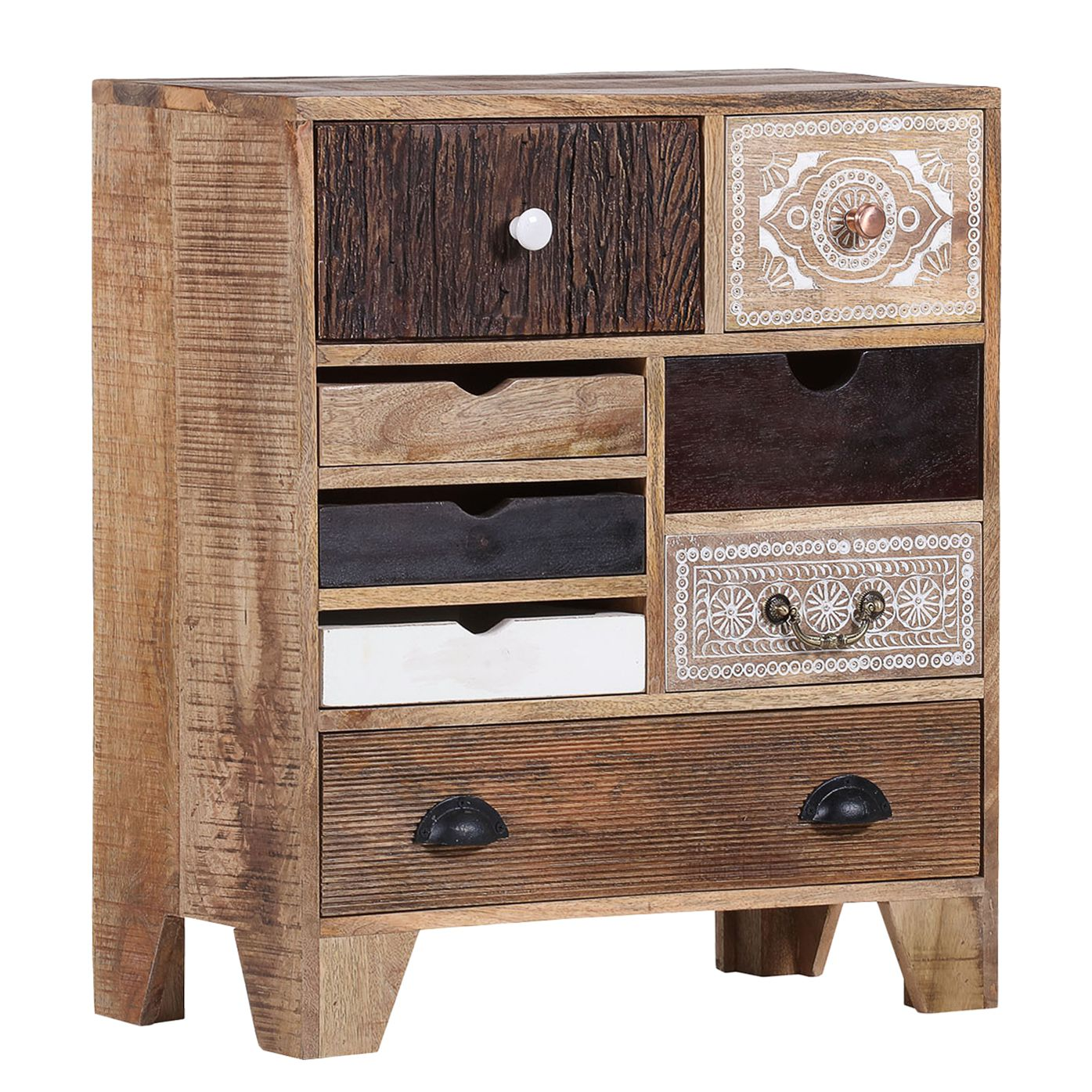 Commode Curenna II - Manguier partiellement massif - Manguier / Marron, Ars Natura
