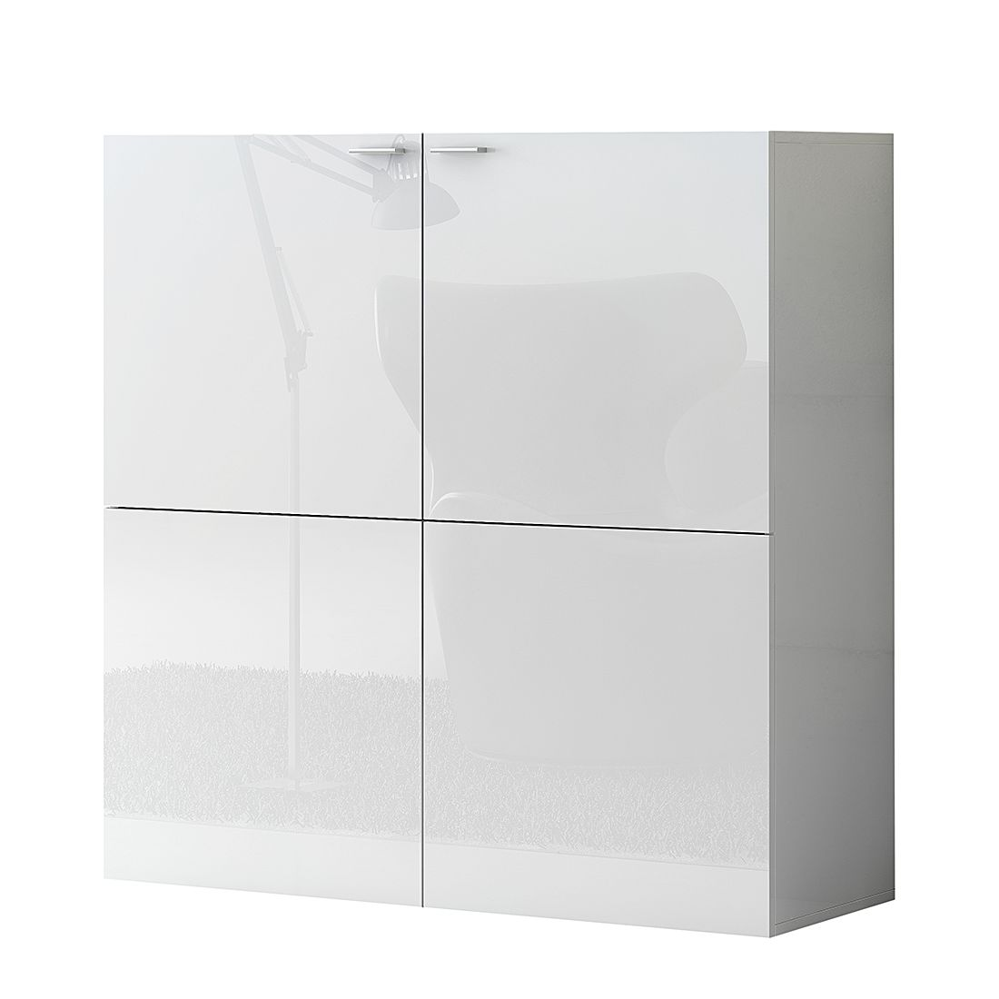 Home 24 - Commode emporior - blanc - blanc brillant, fredriks