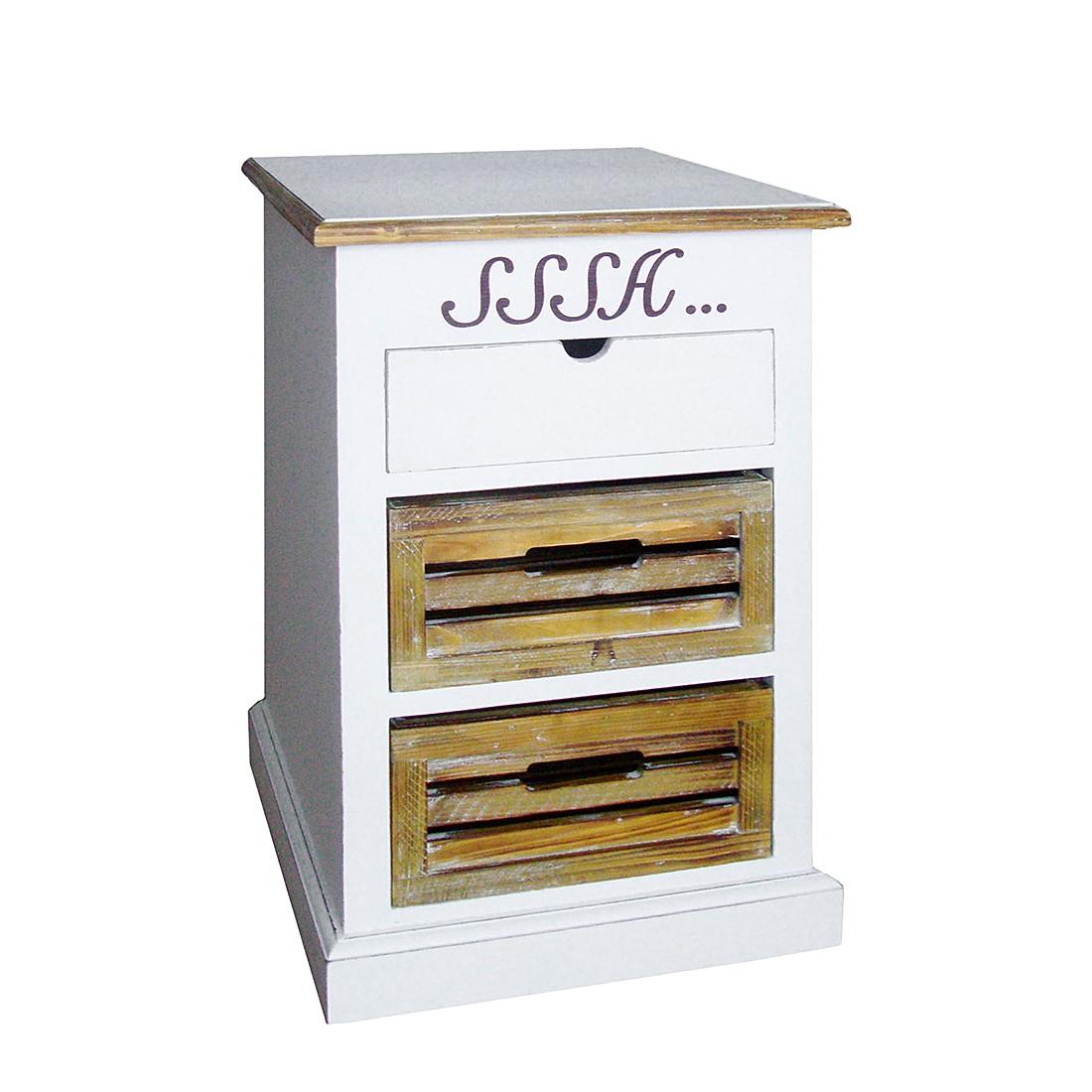 Cassettiera Garuva I - Parzialmente in legno massello di paulonia, Maison Belfort
