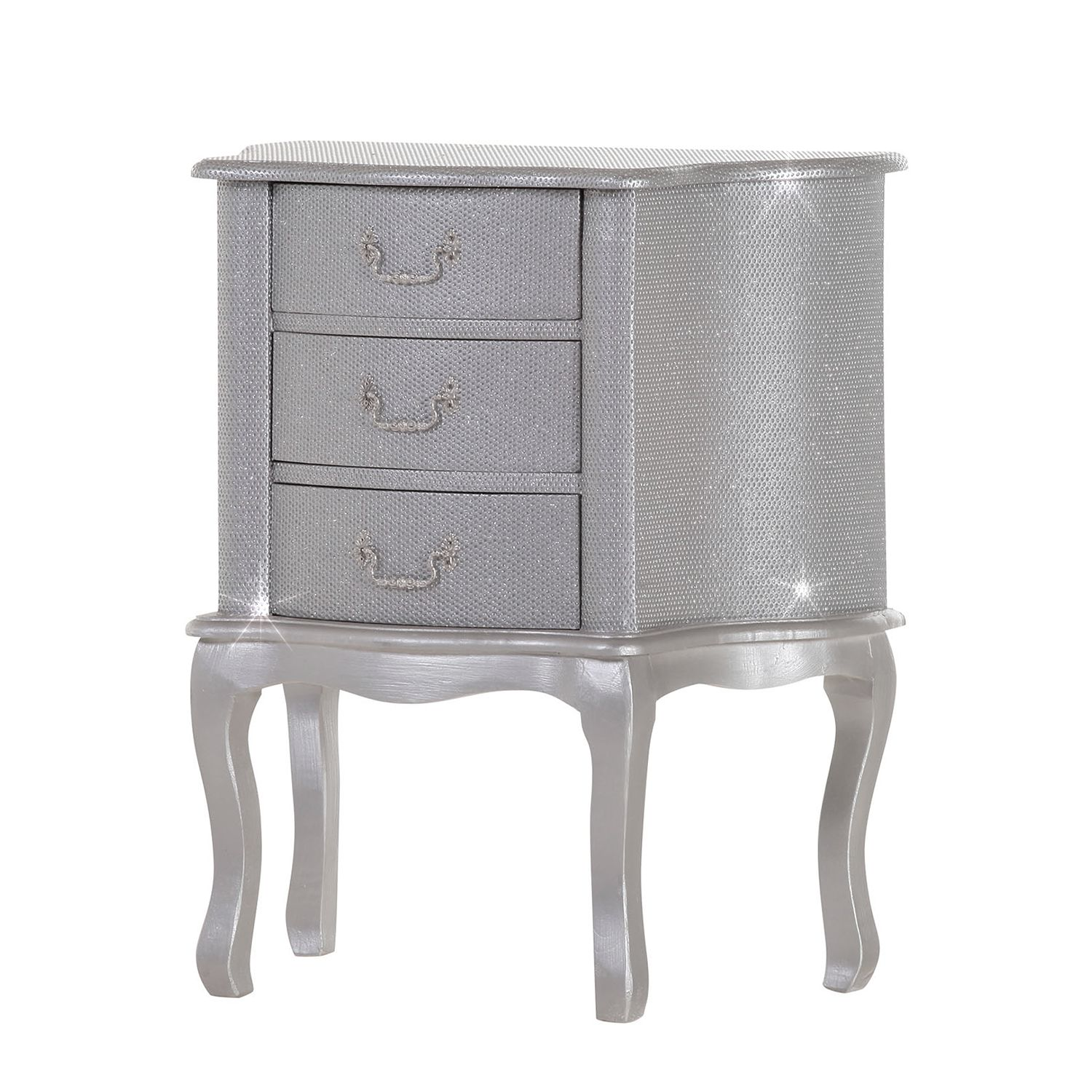 Commode Luccicare III - Argenté, Ridgevalley