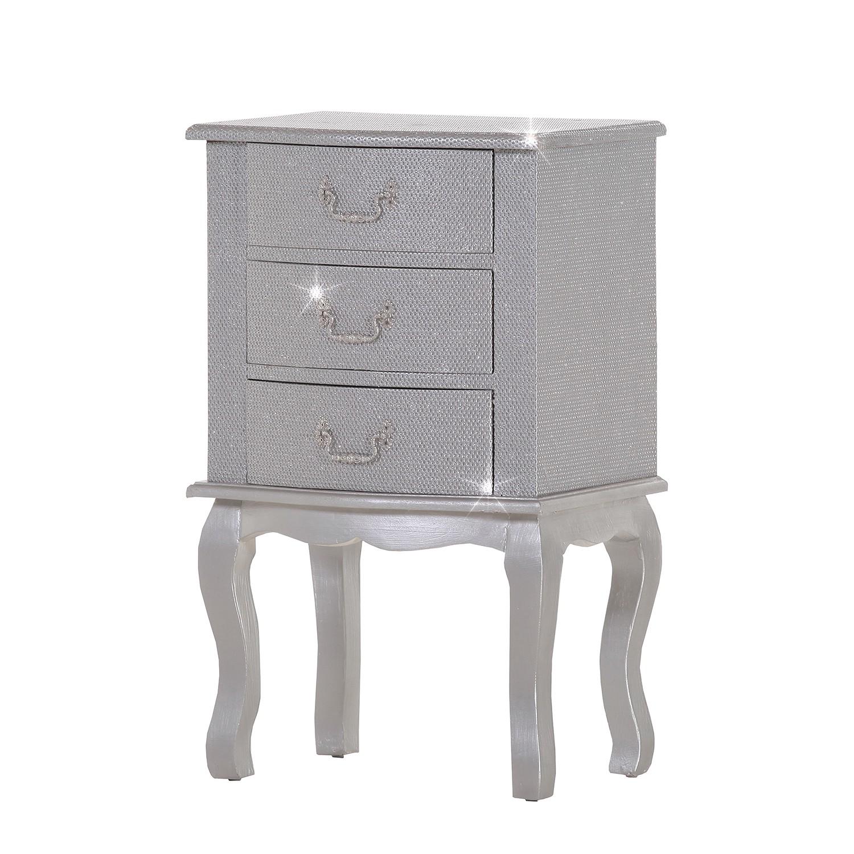 Cassettiera luccicare iv - color argento, Ridgevalley