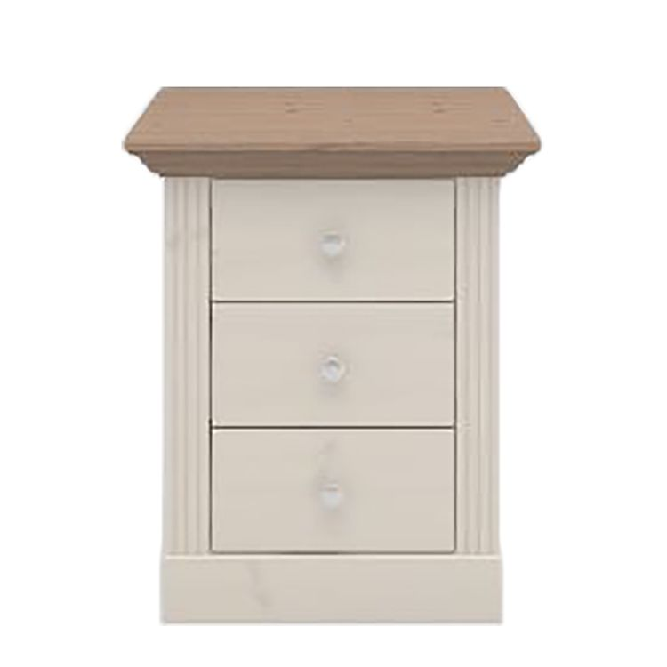 Commode Lyngby I - Pin massif - Pin blanc / Pin marron - 62 cm, Steens