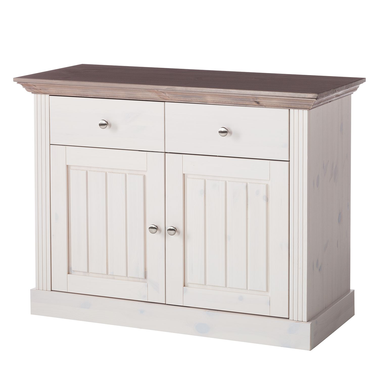 Commode Lyngby III - Pin massif - Pin blanc / Pin marron - Epicéa, Maison Belfort