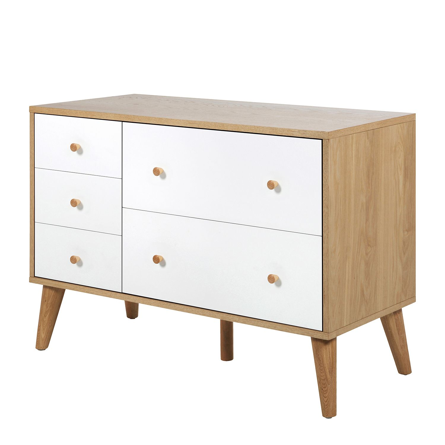 Commode Olav I - Chêne / Blanc, Morteens