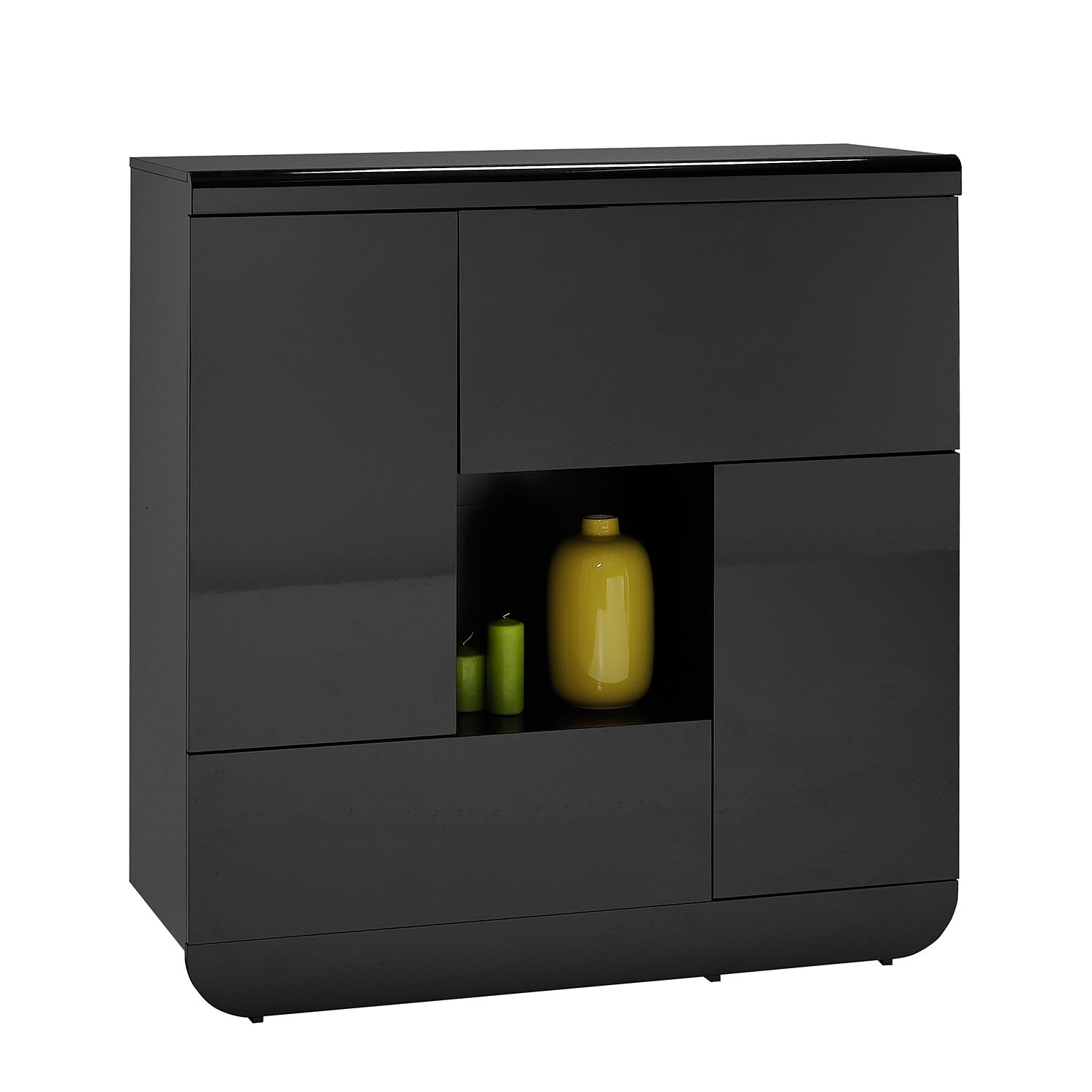 kommode schwarz hochglanz preisvergleich die besten angebote online kaufen. Black Bedroom Furniture Sets. Home Design Ideas