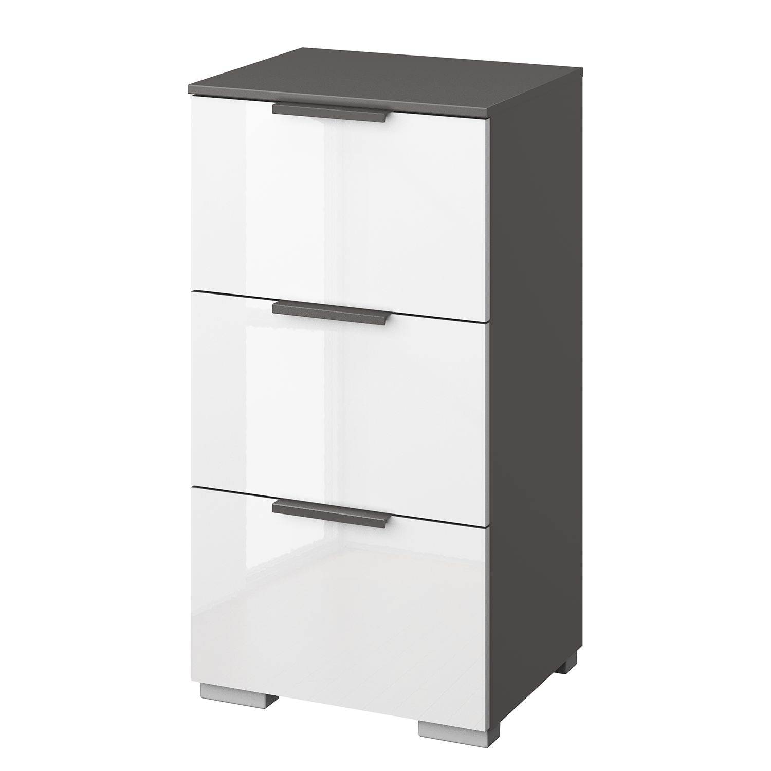 Commode SKØP I - Graphite / Blanc brillant - Graphite, SKØP
