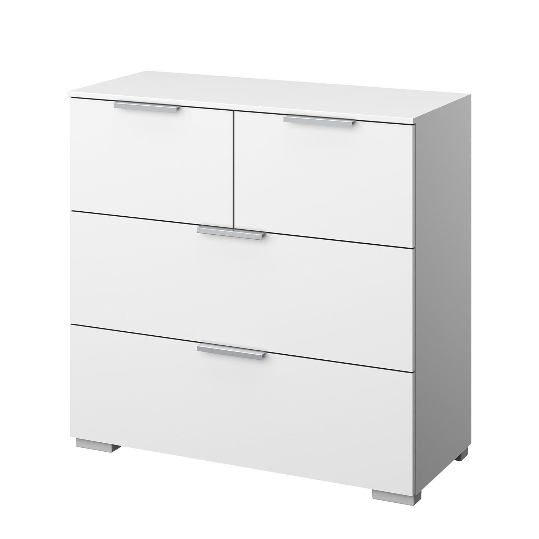 Kommode SKØP III - Alpinweiß - Aluminium