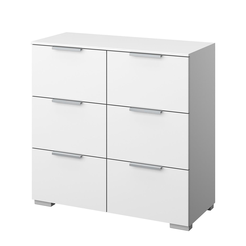 Kommode SKØP IV - Alpinweiß - Aluminium