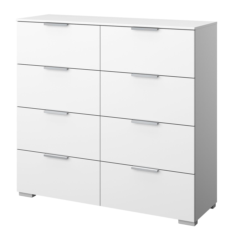 Kommode SKØP X - Alpinweiß - Aluminium