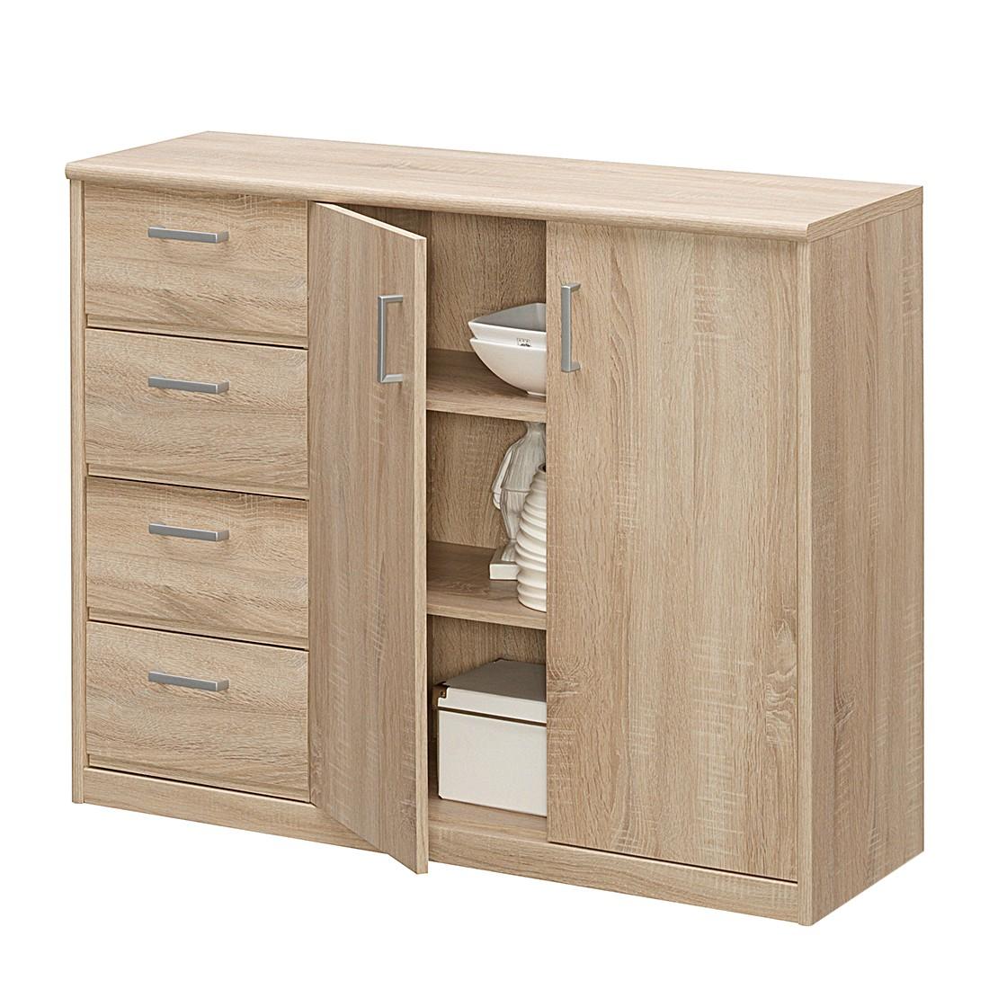 Commode à tiroirs Soft Plus IV - Imitation chêne, Cs Schmal