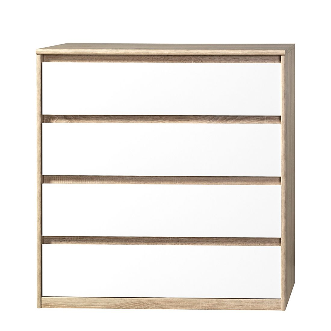 Home 24 - Commode soft smart iii - imitation chêne / blanc, cs schmal