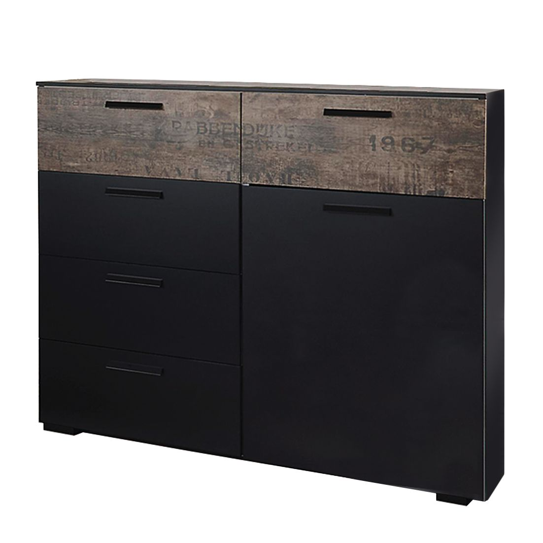 Commode Sumatra I - Noir / Brown de cru, Rauch Select