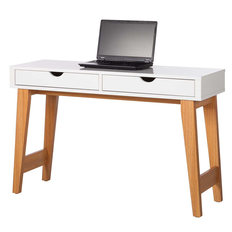 Konsolentisch Brekille - Weiß / Eiche, Morteens bei Home24 - Möbel