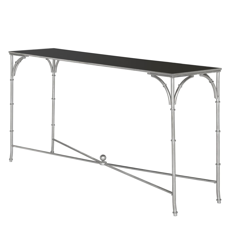 Table d'appoint Maurice - Fer / Verre - Argenté / Noir, Safavieh
