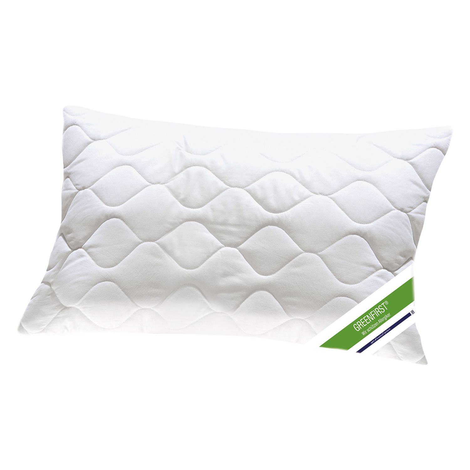Oreiller Greenfirst - Fibres synthétiques - Blanc - 40 x 80 cm, Greenfirst