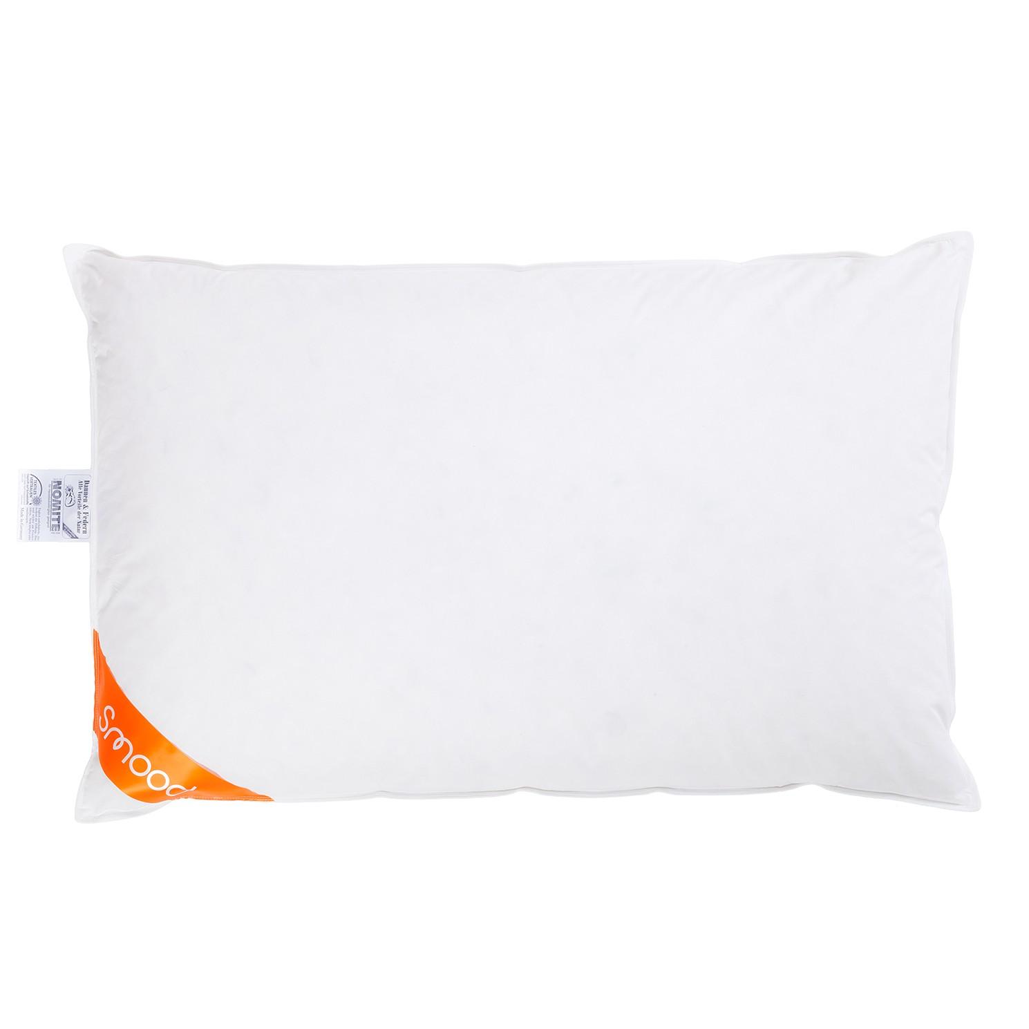 Hoofdkussen SMOOD - veren/dons - wit - 65x100cm, Smood
