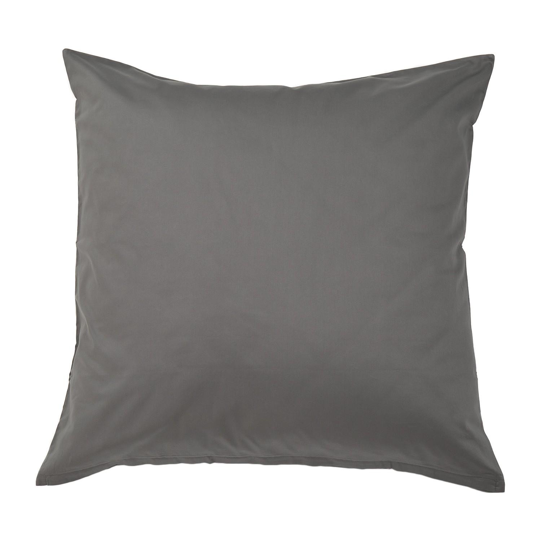 Kopfkissenbezug Nuvola - Baumwollstoff - Anthrazit - 80 x 80 cm