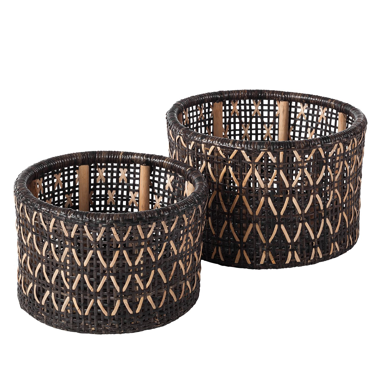 Manden Aga (2-delig) - rotan - bruin/wit, ars manufacti