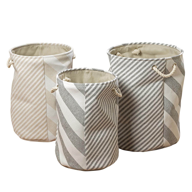 Manden Lomma (3-delig) - geweven stof - beige/grijs, Morteens