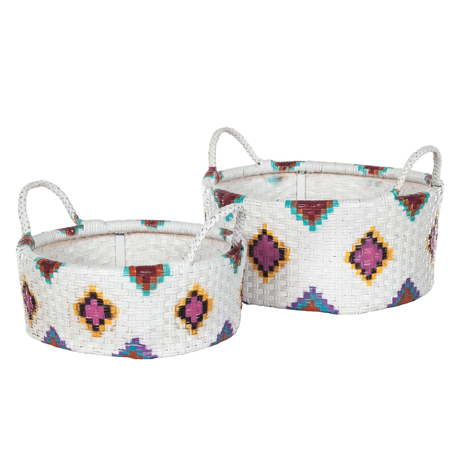 Manden Nahua (2-delige set) - rotan - wit, Eva Padberg Collection