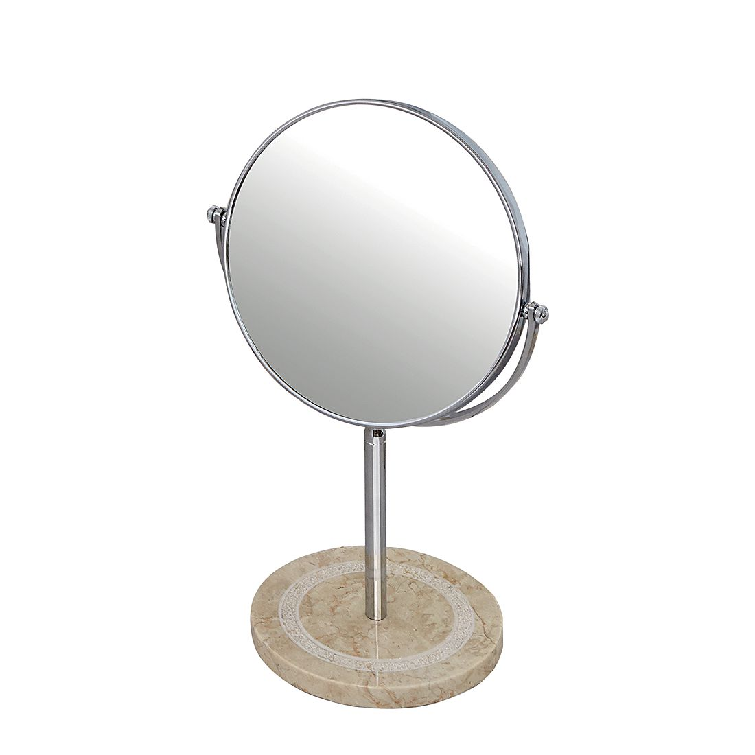 Make-up spiegel Julia - chroomkleurig, Nicol Wohnausstattungen