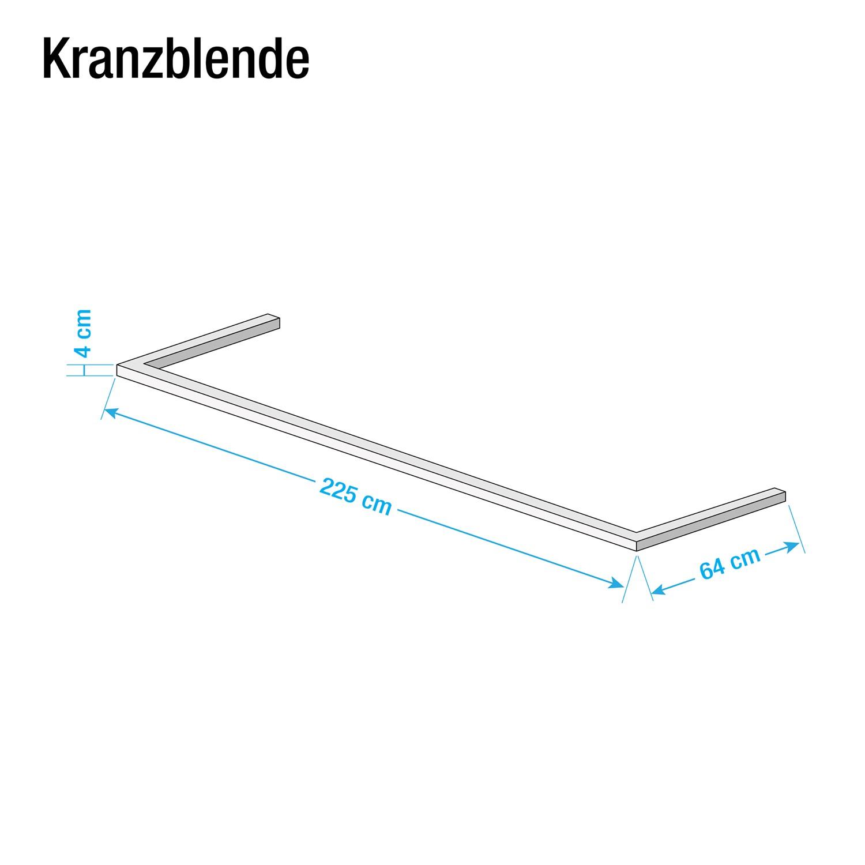 Kranzblende Skøp - Alpinweiß - 225 cm (2-türig)