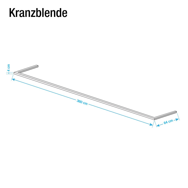 Kranzblende Skøp - Alpinweiß - 360 cm (3-türig)