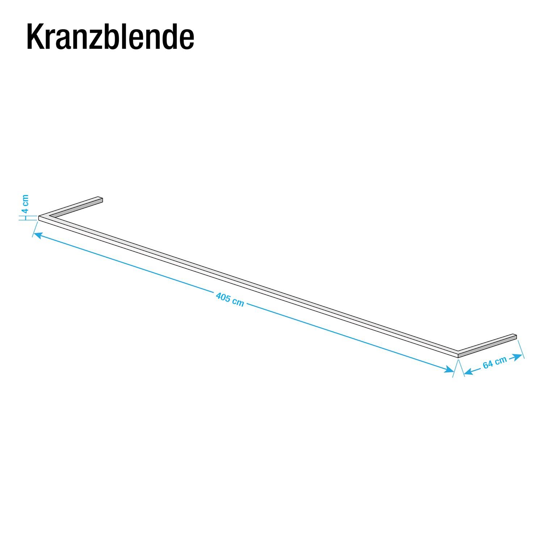 Kranzblende Skøp - Alpinweiß - 405 cm (3-türig)