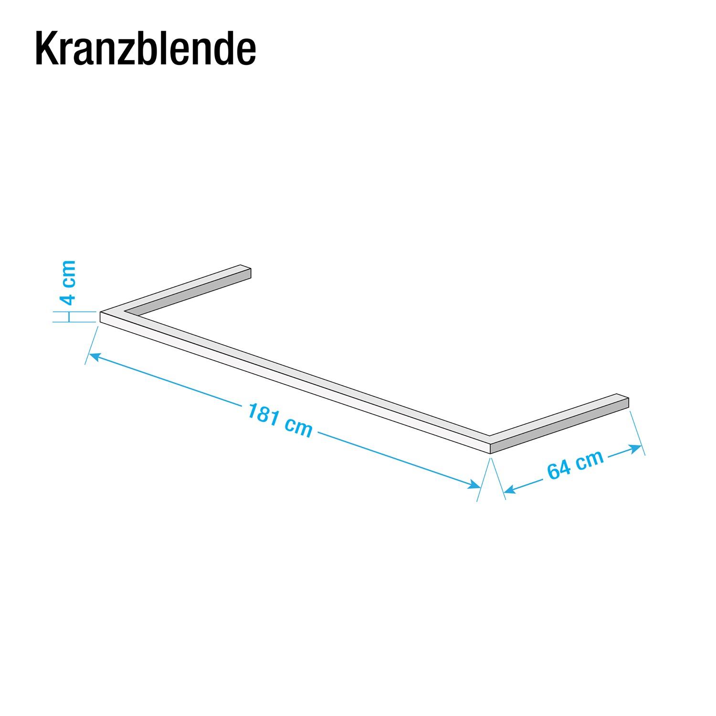 Kranzblende Skøp - Graphit - 181 cm (2-türig)
