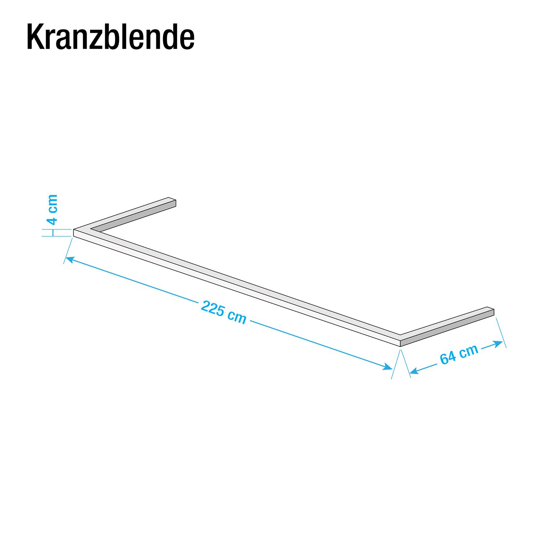 Kranzblende Skøp - Graphit - 225 cm (2-türig)