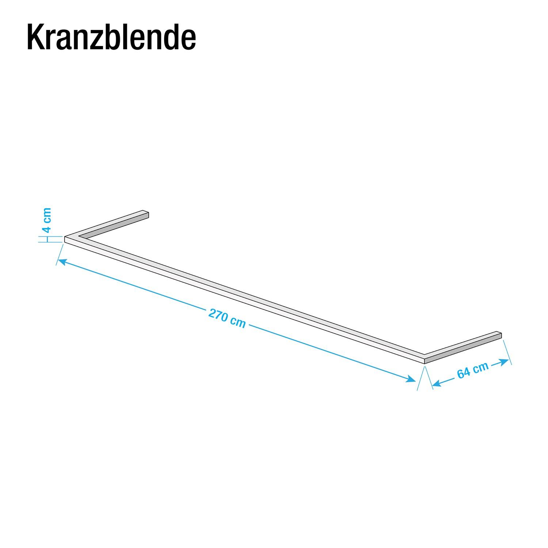 Kranzblende Skøp - Graphit - 270 cm (2-türig)