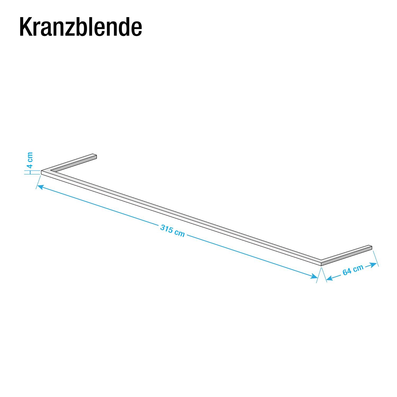 Kranzblende Skøp - Graphit - 315 cm (3-türig)