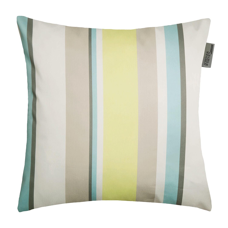 Home 24 - Housse de coussin stripes - tissu mélangé - cappuccino / citron vert, schöner wohnen kollektion