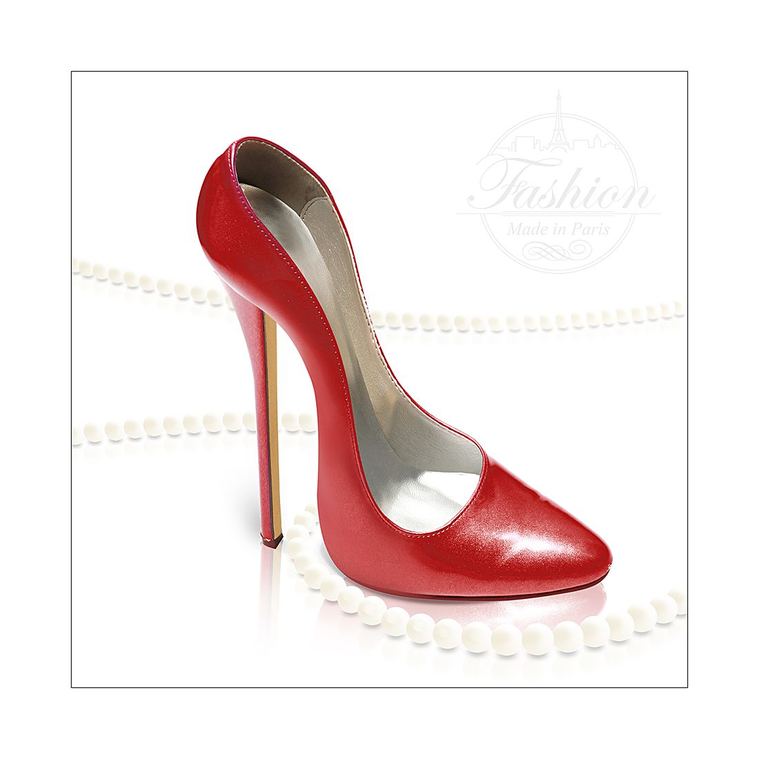 Kunstdruk High Heels I - 20x20cm, Pro Art
