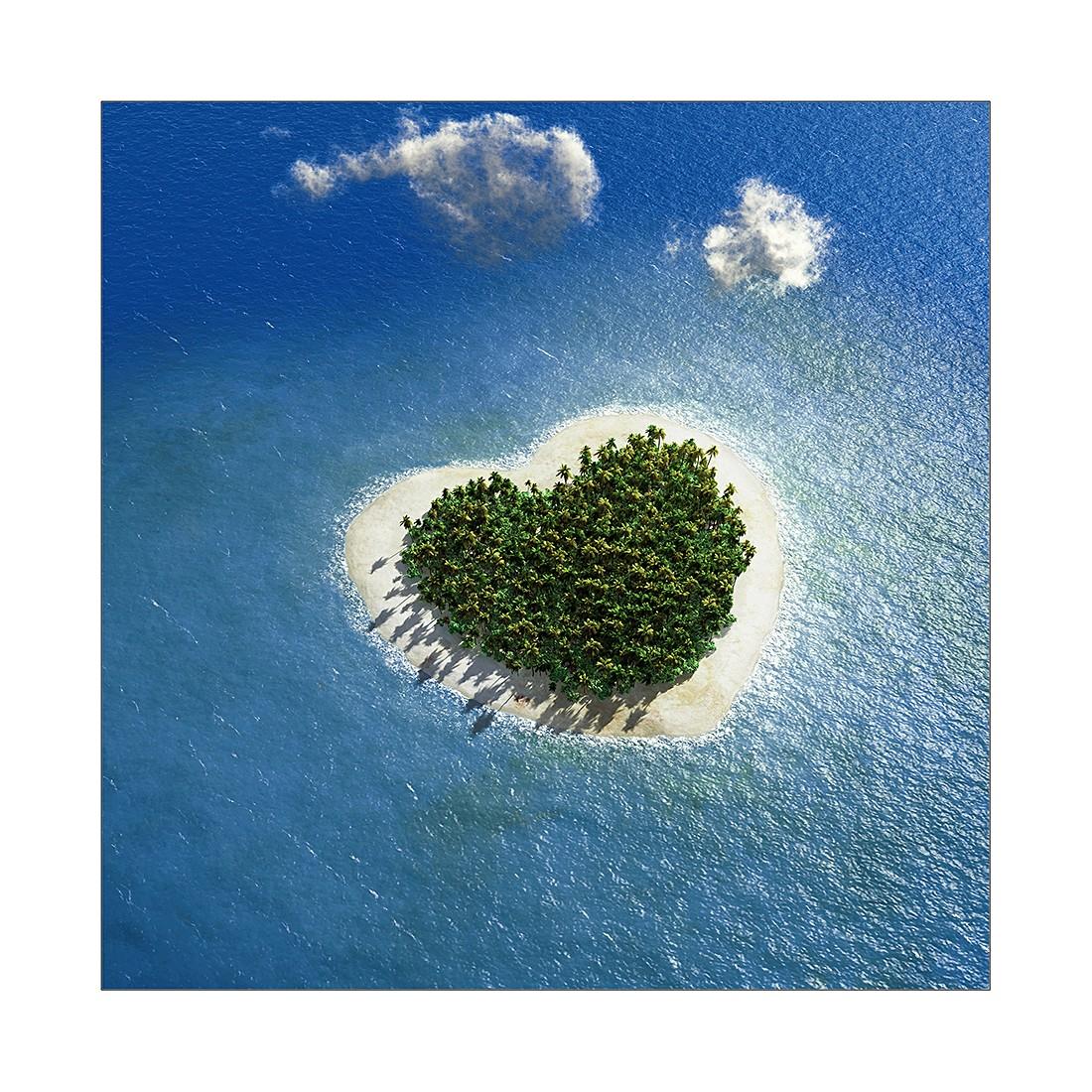 Kunstdruk Island of love II - 20x20cm, Pro Art