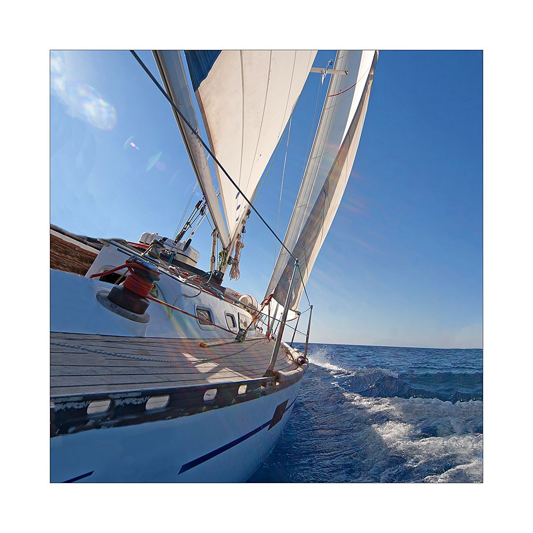 Kunstdruk sailing trip I - 20x20cm, Pro Art
