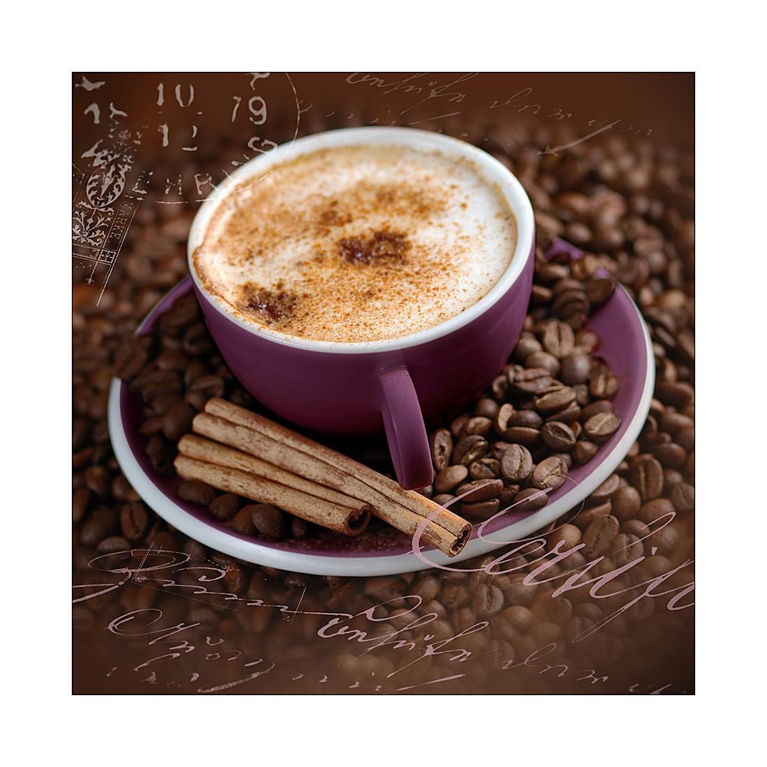 Kunstdruk Violett Coffee I - 50x50cm, Pro Art