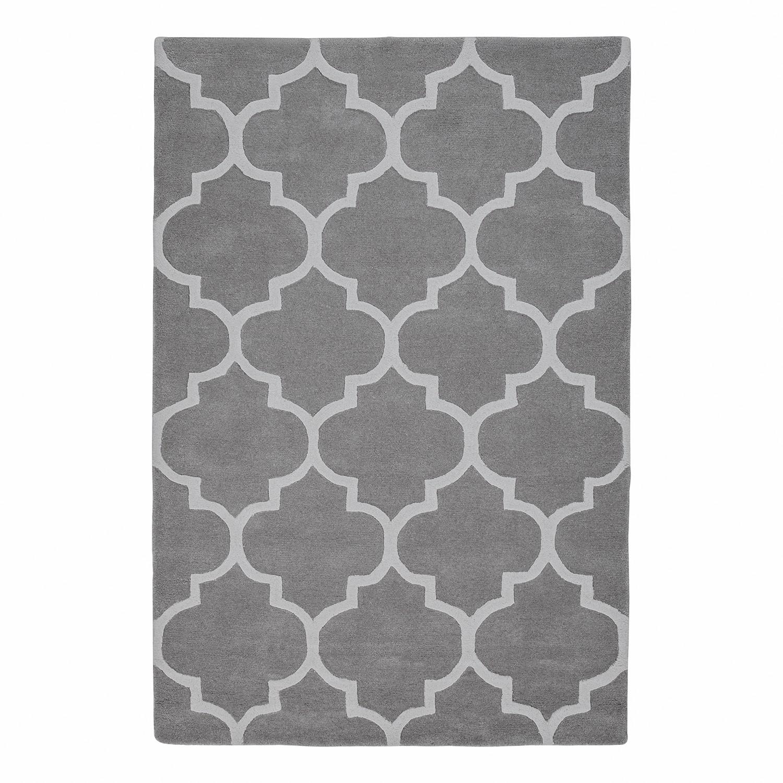 Laagpolig tapijt Bandras - wol/katoen - grijs - 120x180cm, Jack and Alice