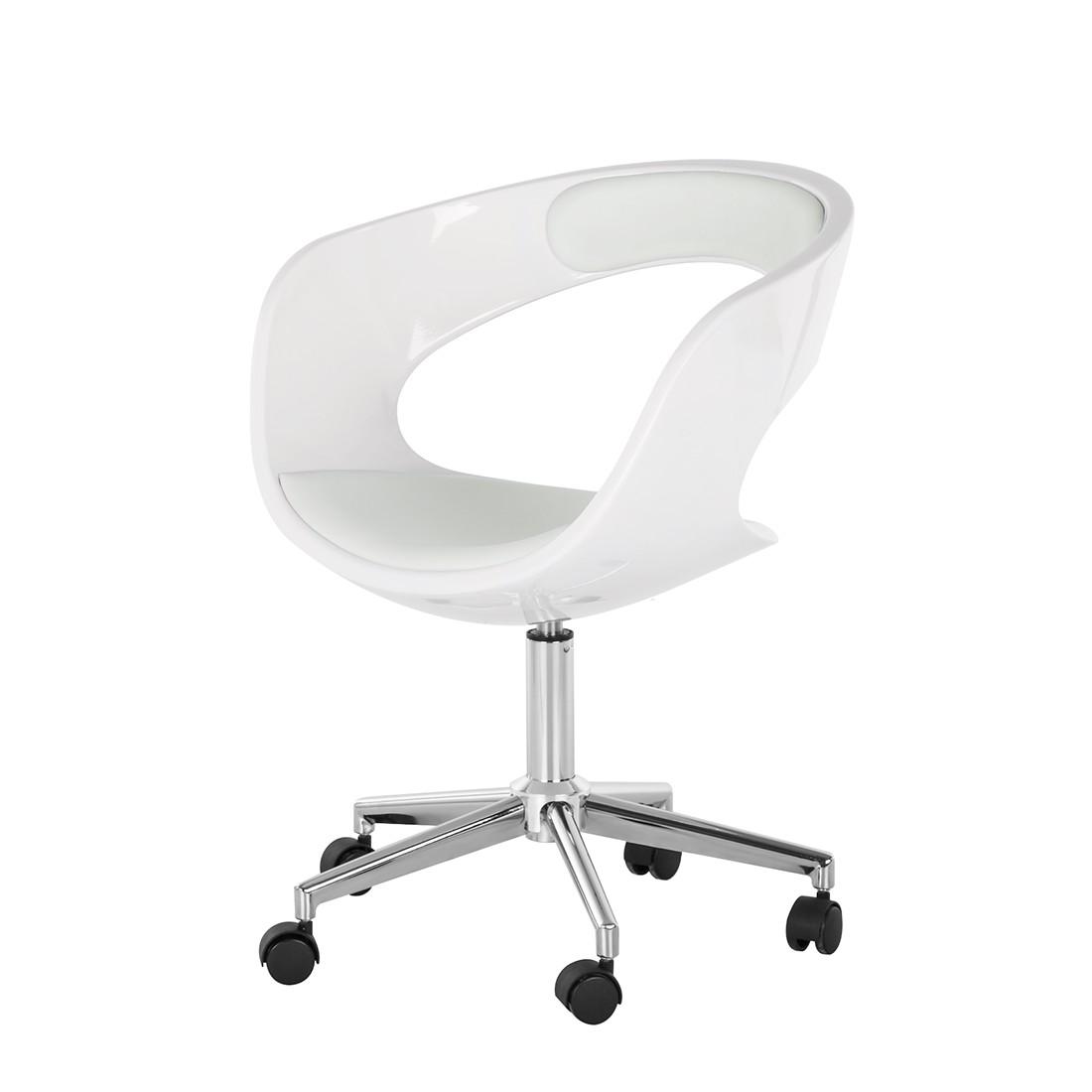 Home 24 - Chaise de bureau pivotante la paz - imitation cuir - blanc, fredriks