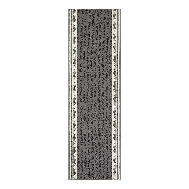 Loper Floret - kunstvezel - Grijs - 80x300cm, Hanse Home Collection
