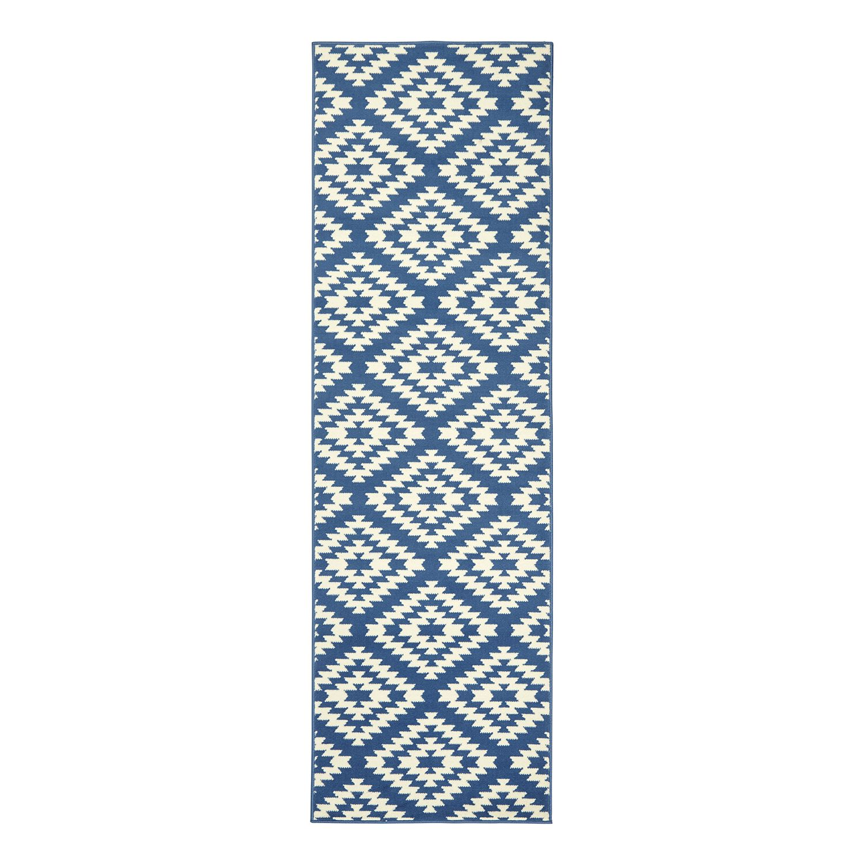Loper Nordic - kunstvezel - Blauw - 80x250cm, Hanse Home Collection