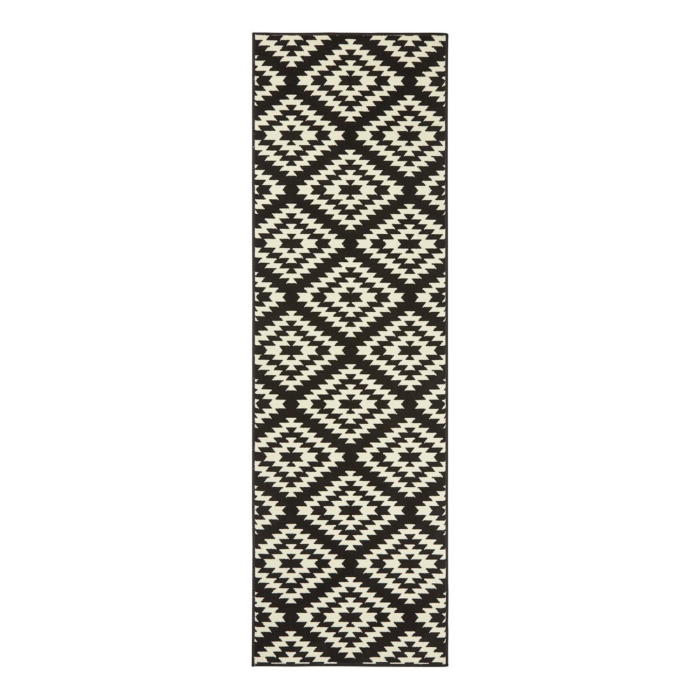 Loper Nordic - kunstvezel - Zwart - 80x300cm, Hanse Home Collection